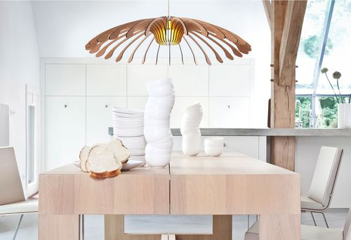 pendant lamp / original design / bamboo