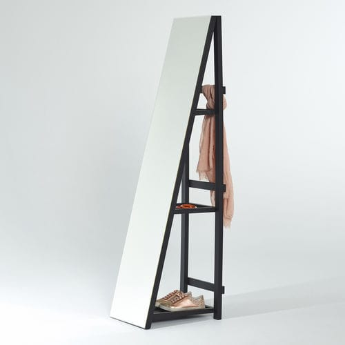 Free Standing Mirror Mimic Shelfie Deknudt Mirrors Bedroom With Shelf Contemporary