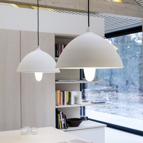 pendant lamp / contemporary / aluminum / white