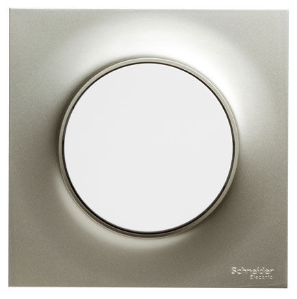 light switch / push-button / recessed / triple