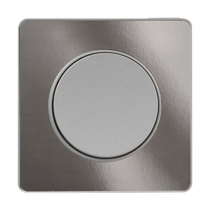 light switch / touch / recessed / aluminum