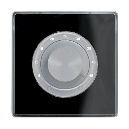 light switch / rotary / brushed aluminum / contemporary