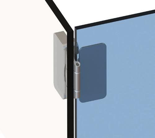 glass door hinge / steel
