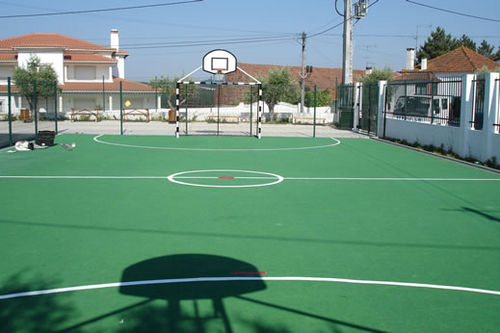 rubber sports flooring / for outdoor use