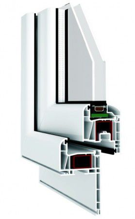 PVC door profile
