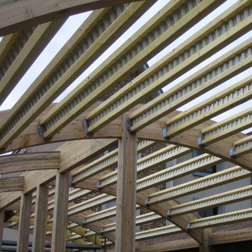 prefab beam / combi / wooden / galvanized steel