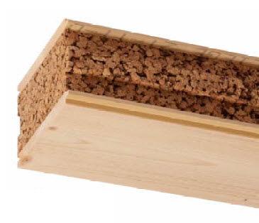 floor sandwich panel / wood facing / cork core