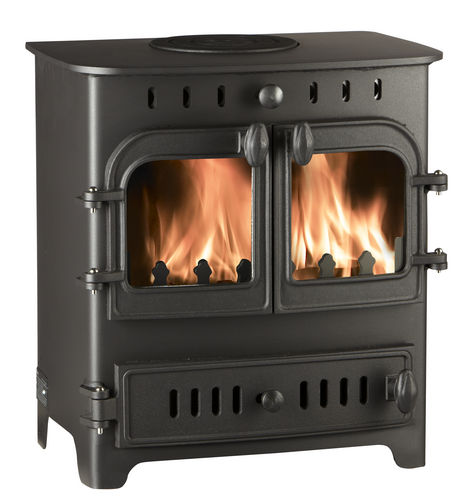 multi-fuel heating stove / traditional / metal