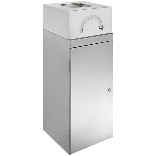 hygienic trash can / stainless steel / polypropylene / commercial