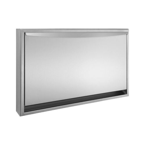 stainless steel changing table / horizontal / commercial
