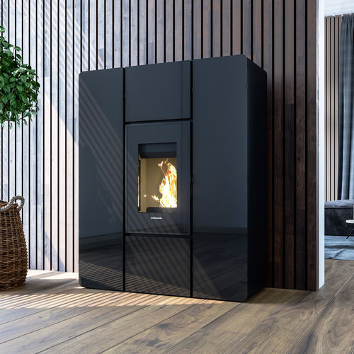 pellet heating stove / multi-fuel / biomass / contemporary