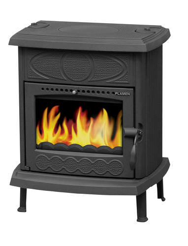 multi-fuel heating stove / traditional / cast iron
