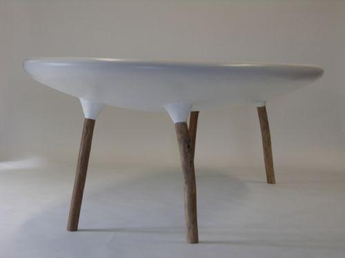 original design table / resin / fiberglass / oval