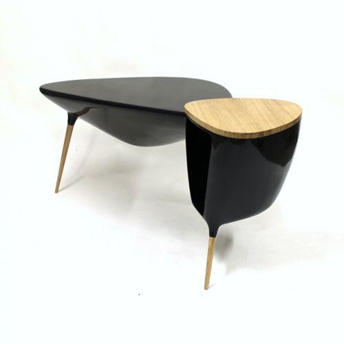 oak desk / fiberglass / original design