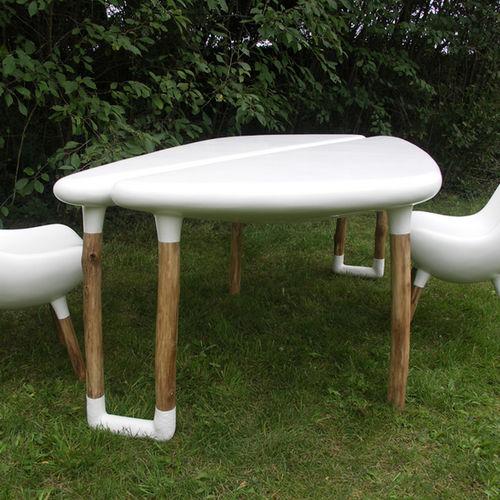 organic design table / resin / fiberglass / garden