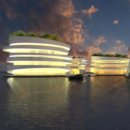 floating building