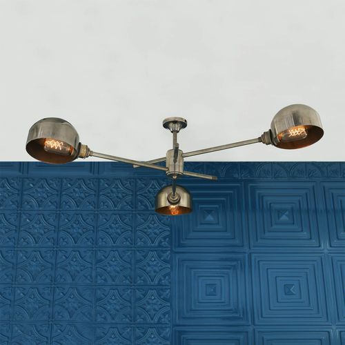 traditional chandelier / polished brass / LED / commercial