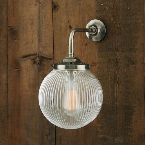 traditional wall light / brass / glass / halogen