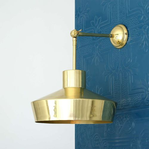 industrial style wall light / polished brass / LED / IP20