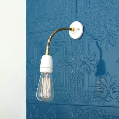 traditional wall light / brass / ceramic / LED