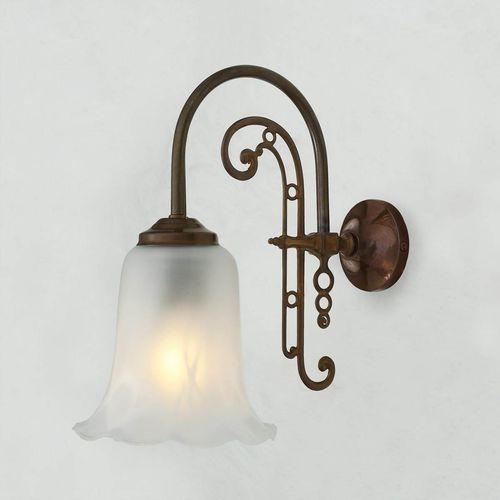 traditional wall light / polished brass / glass / LED