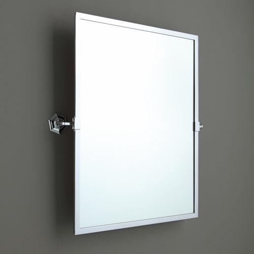 wall-mounted bathroom mirror / tilting / classic / rectangular