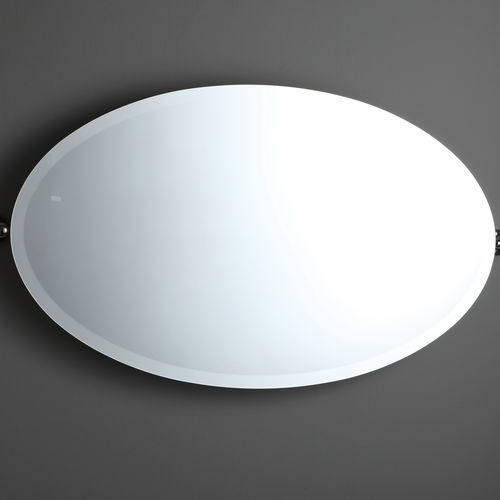 wall-mounted bathroom mirror / tilting / classic / oval
