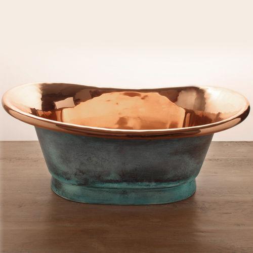 countertop washbasin / oval / copper / contemporary
