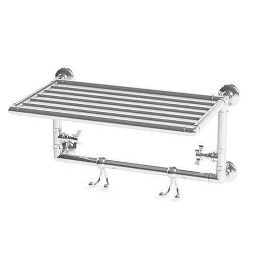 electric towel radiator / metal / traditional / horizontal