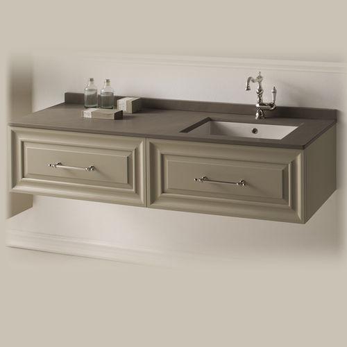 wall-hung washbasin cabinet / MDF / ceramic / contemporary