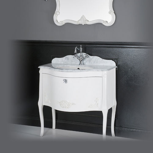 wall-hung washbasin cabinet / MDF / classic / with mirror