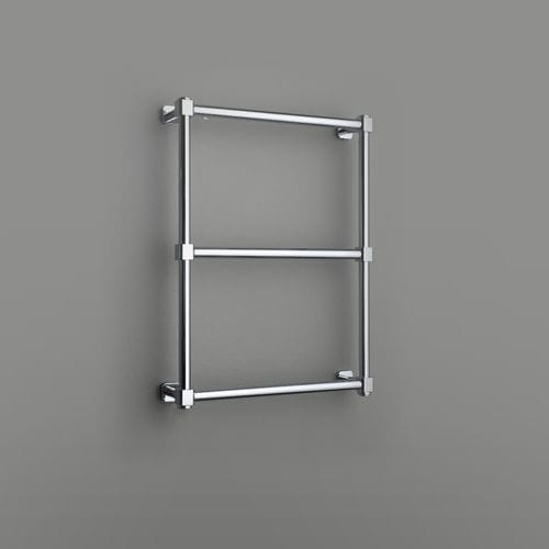 hot water towel radiator / metal / contemporary / wall-mounted