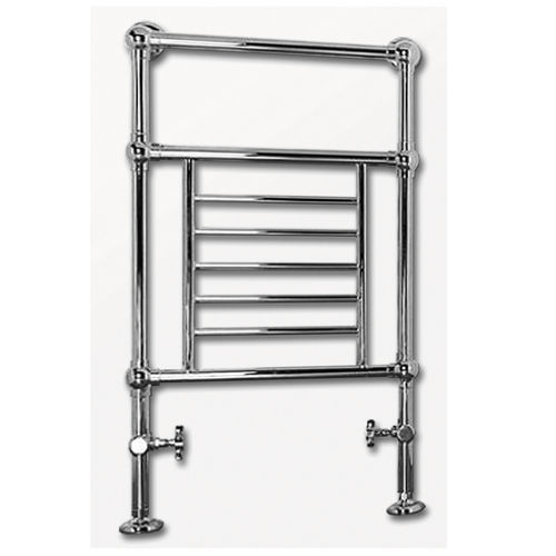 hot water towel radiator / metal / traditional / horizontal