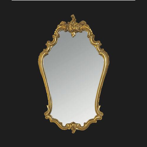 wall-mounted bathroom mirror / classic / metal