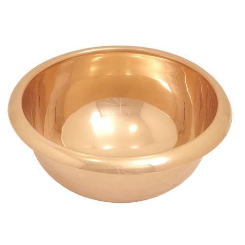 countertop washbasin / round / copper / contemporary