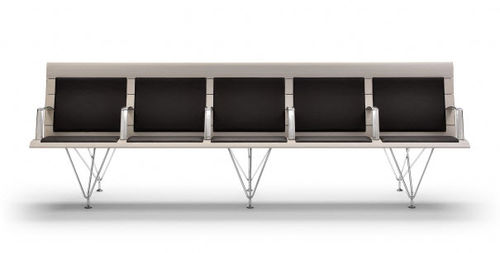 aluminum beam chair / fabric / steel / 5-person