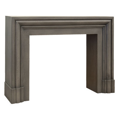 traditional fireplace mantel / wooden