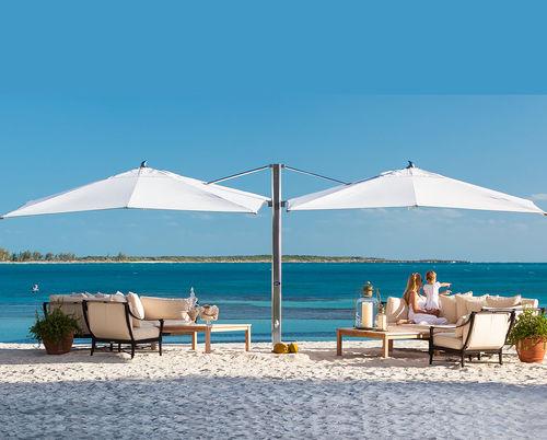 double patio umbrella / commercial / fabric / aluminum