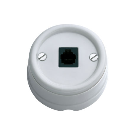 data socket / telephone / wall-mounted / surface-mounted