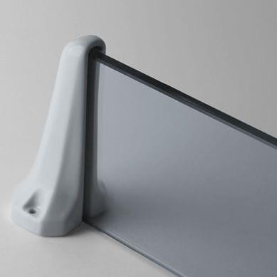 wall-mounted shelf / traditional / glass / porcelain