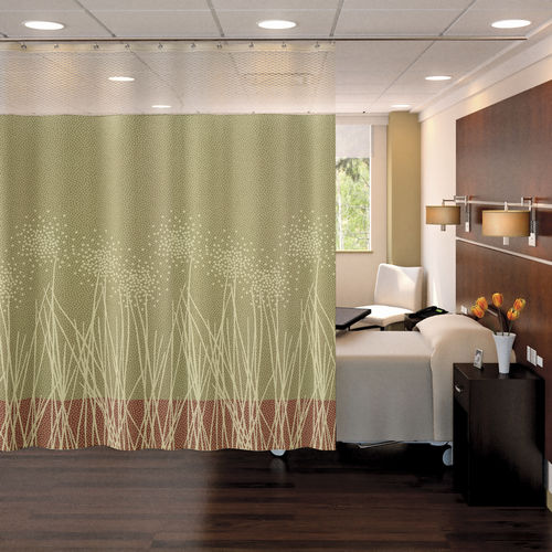 patterned curtain / eyelet / polyester