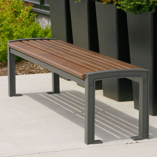 public bench / contemporary / ipe / cast aluminum