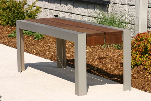 public bench / contemporary / ipe / steel