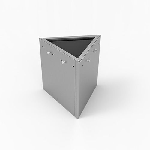 steel planter / triangular / contemporary / for public spaces