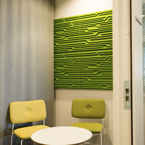 ceiling acoustic panel / wall-mounted / for partition walls / for interior