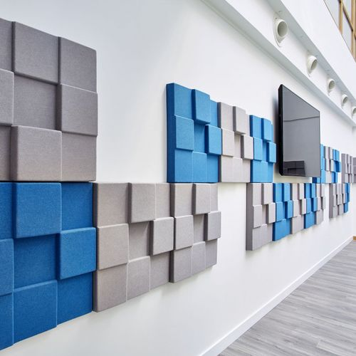 ceiling acoustic panel / for false ceilings / wall-mounted / for partition walls