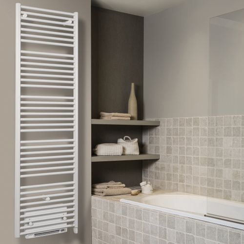 electric towel radiator / steel / contemporary / with ventilator