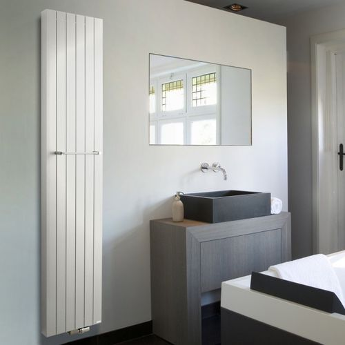 electric towel radiator / hot water / metal / contemporary