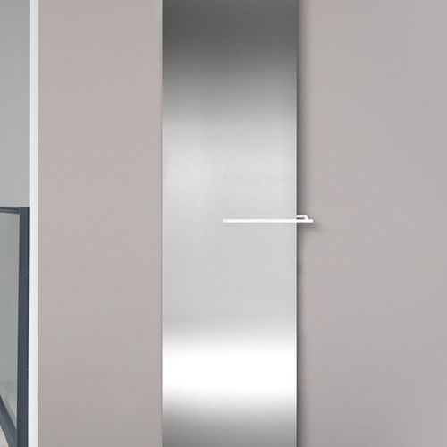 electric radiator / steel / stainless steel / contemporary