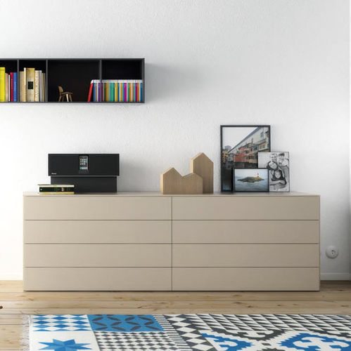 contemporary chest of drawers / wooden / MDF / modular